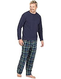 472680f93b Mens Cargo Bay Microfleece Long Sleeve Pyjamas Top and Bottoms Set