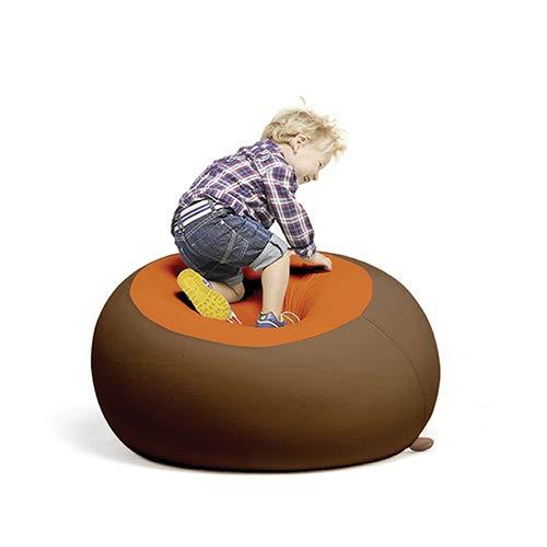 Terapy - STANLEY Relax Indoor Sitzsack - Sitzkissen, 70x70x60cm in braun / orange