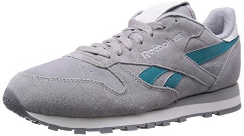 Reebok - CL Leather Suede, Grey (Mgh Solid Grey/Team Gem/White/Steel/Shark), Gr. 41