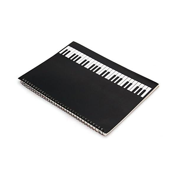 Facilla® Quaderno di musica pentagrammato, quaderno per spartiti a spirale, 40pagine