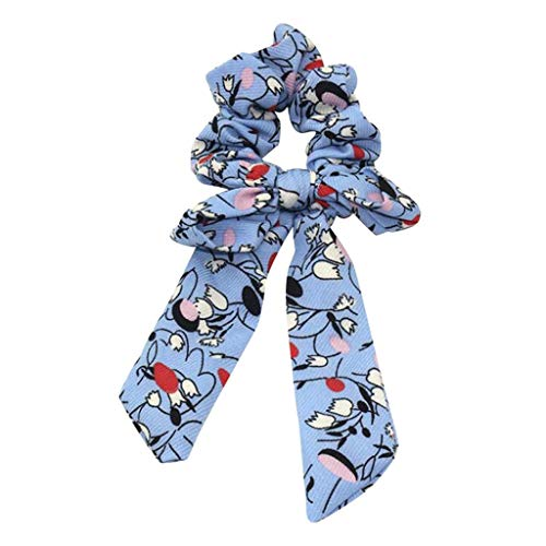 QIMANZI Bogen Luftschlangen Haar Ring Damen Mode Band Mädchen Haar Bands Haargummis Schachtelhalm Krawatte(C) -