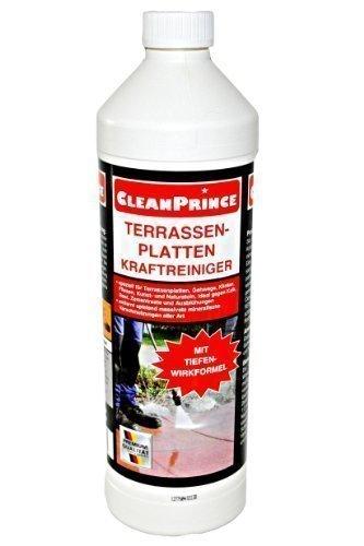 CleanPrince Terrassenplatten Kraftreiniger 1000 ml Ausblühungen Zementreste Plattenreiniger reinigen Reiniger speziell für Terrassenplatten, Gehwege, Klinker, Fliesen, Kunst- und Naturstein