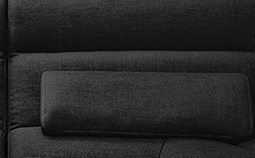XXL Sofa Tara Big Sofa Wohnlandschaft Stoff schwarz mit Kissen 292x75x148cm (B/H/T)