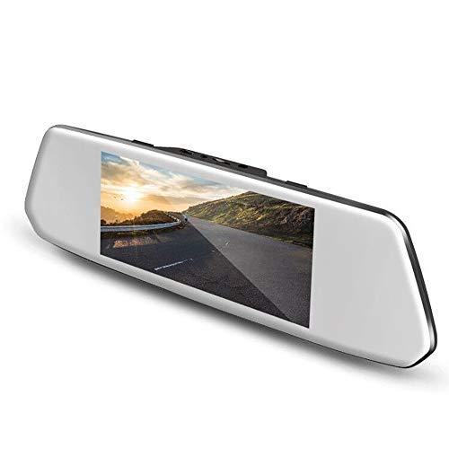 Autokamera, VBC1080P Touchscreen Dash Cam LCD 7 Zoll mit 170° Weitwinkel Rückspiegel Cam mit Kamera vorne und hinten, G-Sensor, Aufnahme in Bucle und Bewegungserkennung