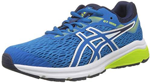 Asics Unisex-Kinder Laufschuhe  Gt-1000 7 Gs, Blau (Racer Blau/Neon Lime ), 36