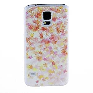 Kinston Maple Leaf Pattern Plastic Hard Case for Samsung S5 I9600 in Multi Colour