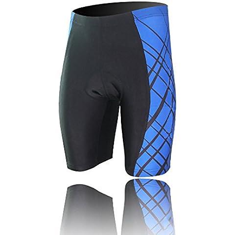 Spoz Men Short Sleeve Cycling Padded Shorts M