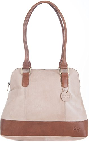 Gigi, Borsa a spalla donna Dark Brown / Mid Brown large Bone / Mid Brown