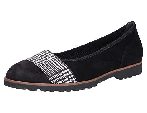Gabor Shoes Damen Casual Geschlossene Ballerinas, Schwarz (Schw.Kombi(Cogn.) 40), 38.5 EU -