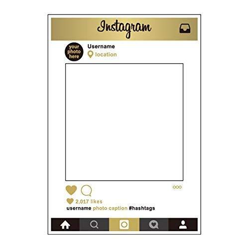 Weddecor Matrimoni Giorno Cabina per Fototessere Personalizzato Selfie Cornice Regalini per Feste per Il Matrimonio, Anniversario, Festeggiamenti, Decorazione Feste 48 x 68cm - Instagram, 1 Pc