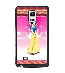 PrintDhaba Princess D-2469 Back Case Cover for SAMSUNG GALAXY NOTE 4 EDGE (Multi-Coloured)