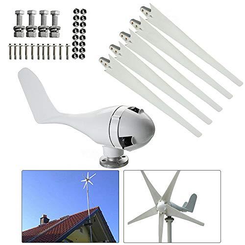 Generatore elettrico turbina eolica, regolatore di carica orizzontale, 5 pale rotore, generatore eolico ibrido, 400 W, 24 V