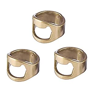3Edelstahl Finger Daumen Ring Flasche Offene Opener Bar Bier Werkzeug Geschenke, rutschfest Flasche opener-multifuction Küche Gadgets
