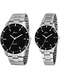 JAINX Analogue Black Dial Men's & Women's Couple Watch -Jc423