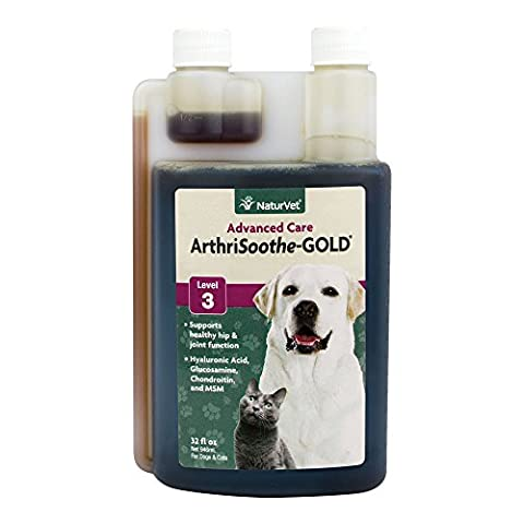NaturVet ARTHRISOOTHE GOLD Dog Hip & Joint Flexibility & Support Liquid 32 oz