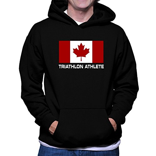 Teeburon FLAG CANADA Triathlon Athlete Hoodie