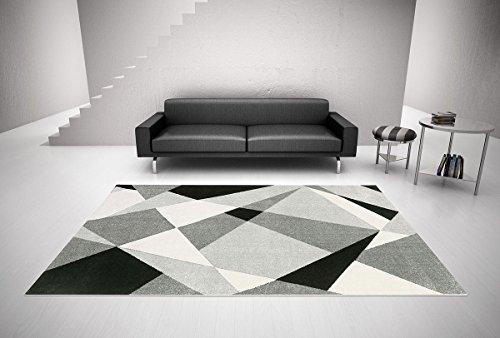 Arredo carpet milano prestige tappeto rombi moderno soft touch adatto per la camere ed il soggiorno 80x150 cm