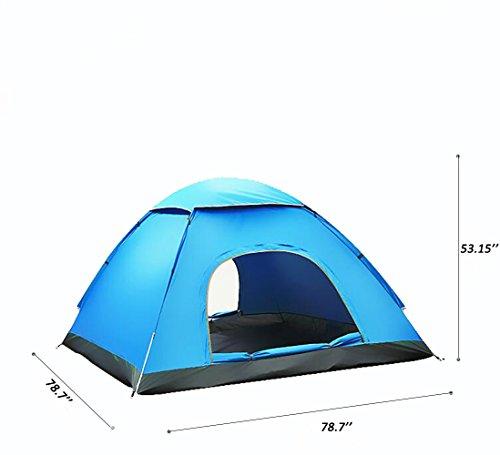 Automatische Zelt Große 3 - 4 Personen Mann, Portable Instant Pop Up Zelte Set UV Schutz Wasserdicht für Outdoor Camping Strand Wandern Picknick Angeln, 200x200x135 cm / 78.7''x78.7''x53.15 ''