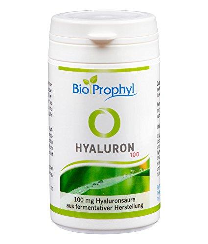 BioProphyl® Hyaluron 100 - 100 mg Hyaluronsäure aus fermentativer Herstellung - ohne Zusätze - 100% vegan - 60 pflanzliche Kapseln