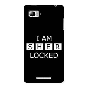 Gorgeous Sher Locked Black Back Case Cover for Lenovo Vibe Z K910
