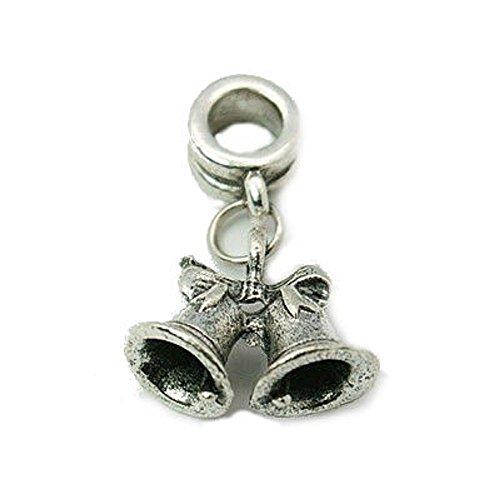 Buckets of Beads Jingle Bells baumeln Charme passend für die meisten Charm-Armbänder für Frauen und Mädchen (Davinci-perlen-armband)