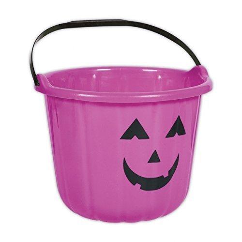 Amscan lila Kürbis Halloween-Trick or Treat Eimer aus Kunststoff, 6 Stück