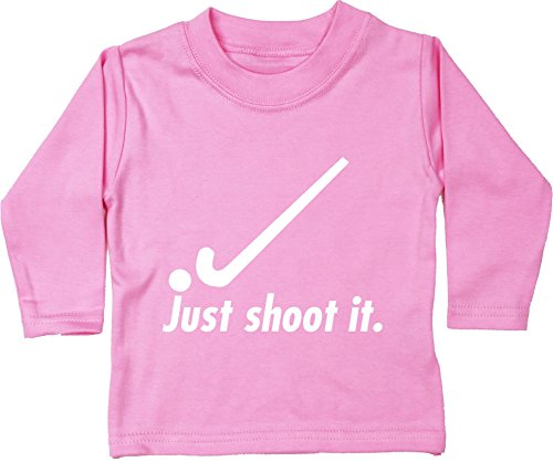dee7b7a17933b HippoWarehouse Just Shoot it Hockey Camiseta Unisex bebé Manga Larga