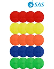 SAS SPORTS Color Spot Marker (Set of 20), Size 8 inch,for Kids Education