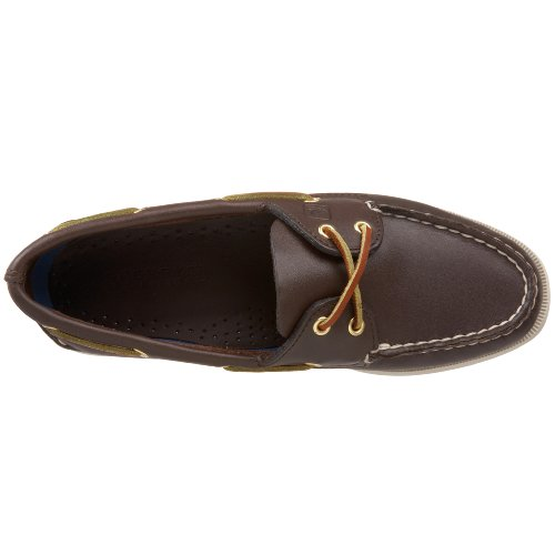 Sperry Top-Sider Women's Authentic Original 2-Eye Boat Shoe,Brown,5 W US Brown