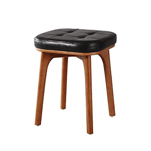 Lifex poltrona per il trucco in legno massello di frassino design scandinavo sedia per arredamento in pelle minimalista per sgabello per adulti sgabello per divano in stile country americano sgabello