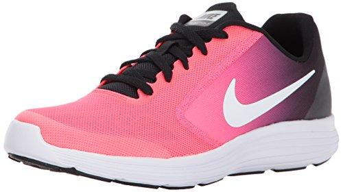 Nike Jungen Revolution 3 GG Laufschuhe, Mehrfarbig (Black/White/Racer Pink), 36 EU (Nike Big Kinder Socken)