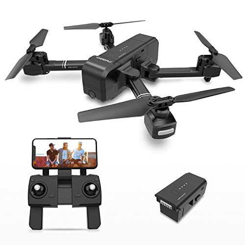 DEERC DE25 Faltbare Drohne mit Kamera HD 1080P, Quadrocopter, Helikopter Ferngesteuert mit GPS Navigation, Tap Fly, Active Track, Gestensteuerung, Quick Shot, Live Video, Ideal für Kinder und Anfänger