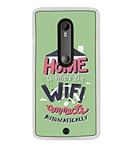Fuson Designer Back Case Cover for Motorola Moto X Play (connects automaticaly house joint family)