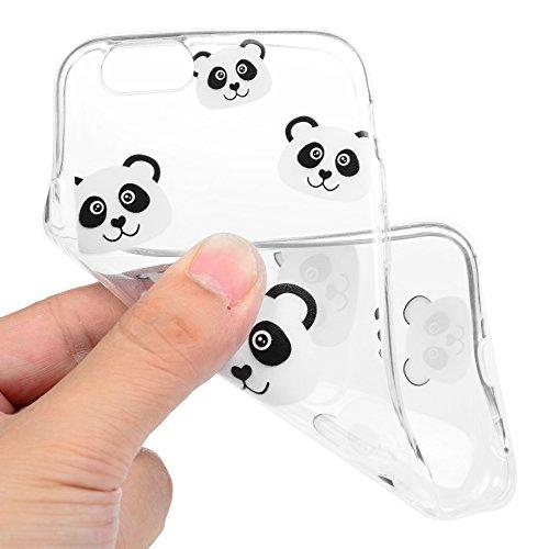 iPhone 6 / 6s Cover Silicone, Custodia Morbida TPU per iPhone 6/ 6s - BADALink Anti Scratch Ultra Slim Case Protettiva - Totem Nero Panda