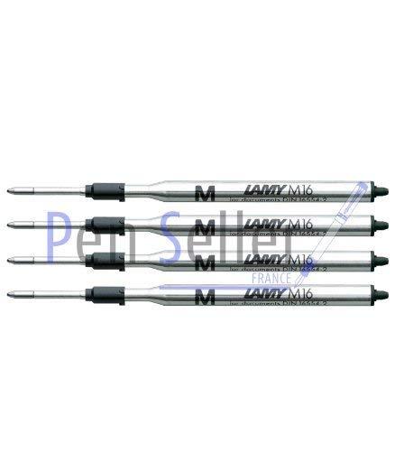 Lamy: Großraum-Kugelschreibermine M16: Farbe: schwarz, Strichbreite: M, 4er-Set.