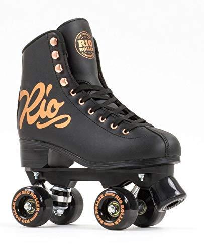 Used, Rio Roller Rose Quad/Roller Skates- Black (UK 6 / EU for sale  Delivered anywhere in UK