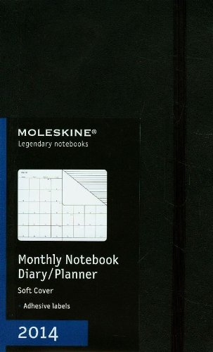 Moleskine Large Soft 12 Months 2014 Monthly Notebook por Moleskine