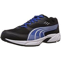 Puma Men's Pluto DP Black-Strong Blue-Silver Running Shoes - 7 UK/India (40.5 EU)