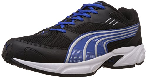Puma Men's Pluto DP Black-Strong Blue-Silver Running Shoes - 7 UK/India (40.5 EU)
