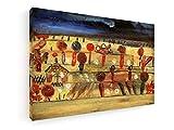 Paul Klee - Garten in der Ebene II - 1920-90x60 cm - Premium Leinwandbild auf Keilrahmen - Wand-Bild - Kunst, Gemälde, Foto, Bild auf Leinwand - Alte Meister/Museum