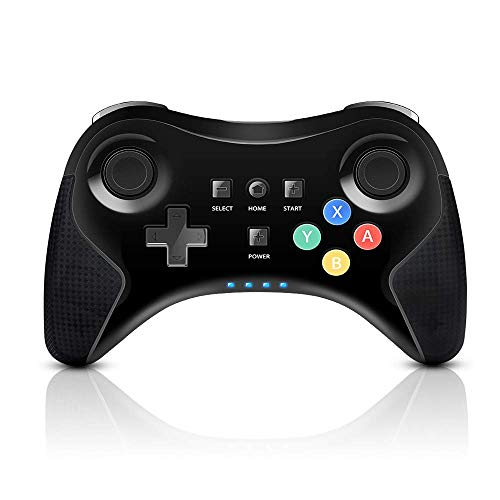 PowerLead Game controller for Wii U Pro Controller, Wireless-Controller Gamepad-Arbeit für Nintendo Wii U Wiederaufla dbarer Bluetooth-Controller Joystick Dual-Analog-Spiel (Upgrade-Version) (Wii U Spiel-zubehör)
