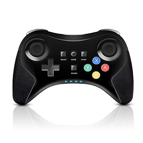 PowerLead Controller per Wii U PRO, Wireless Gamepad per Nintendo Wii U Ricaricabile, Controller Joystick con Doppia levetta Analogica (Versione Aggiornata)