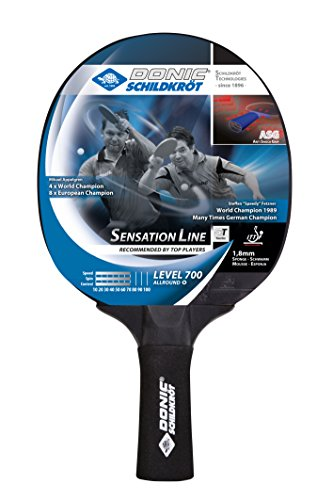 Donic-Schildkröt Tischtennisschläger Sensation Line 700, ASG-Griff, 1,8 mm Schwamm, Avantgarde - ITTF Belag, 734403