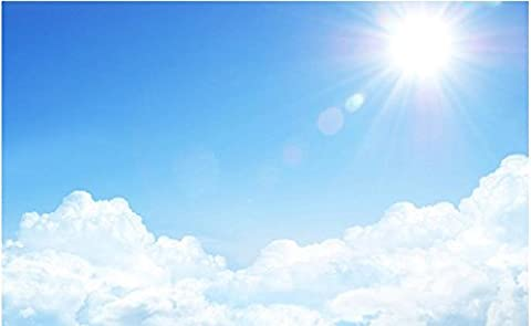 Sykdybz Wohnzimmer Tv-Kulisse Schlafzimmer 3D Fototapete Sonnigen Blauen Himmel Decke Landschaftstapete Wandmalereien Decken-350Cmx245Cm