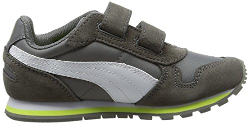Puma Unisex-Kinder St Runner Nl V Ps Low-Top Grau (steel gray-puma white 14)