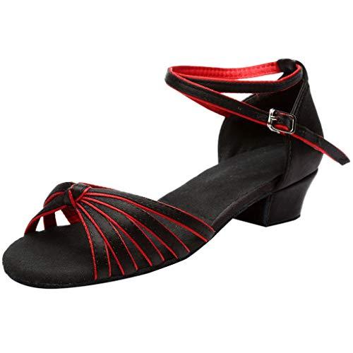 SANFASHION Hohe Qualität Sandalen Frauen Ballsaal Tango Salsa Tanzschuhe Latin Low-Heels Tanzschuhe