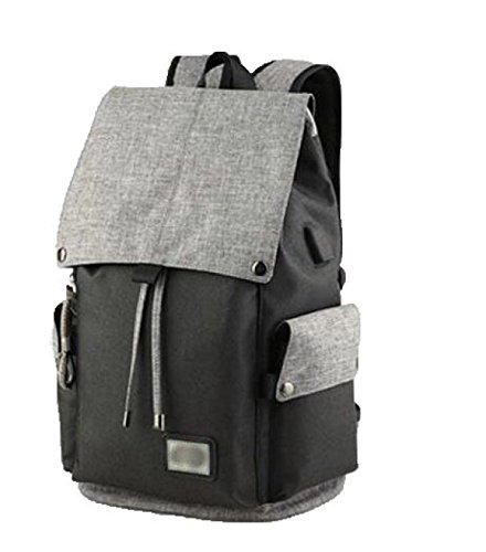 FZHLY Versione Coreana Del Uomo Tracolla Leisure Travel Bag Computer,Gray HitColorBlack