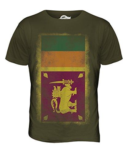 CandyMix Sri Lanka Verblichen Flagge Herren T Shirt Khaki Grün