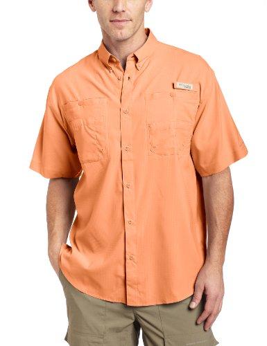 Columbia Herren Freizeit-Hemd rot - Bright Peach