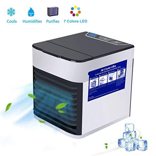 Persönlicher Mini-Luftkühler Ultra | 2X Kühlleistung und leiser USB Evapolar | Tragbarer Conditioner für die Sicherheit von Kindern, Bürotisch, Schlafzimmer